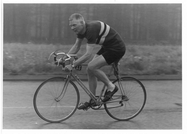 Jack Rollitt on Uppadine Bicycle
