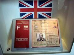 Roy Cromack Olympic ID Card. Image courtesy Janet Roberts.