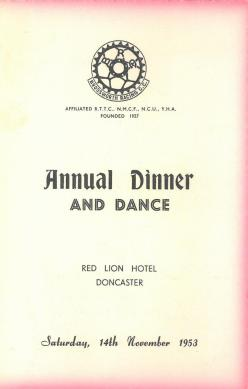 Brodsworth Racing C.C. Annual Dinner and Dance 1953