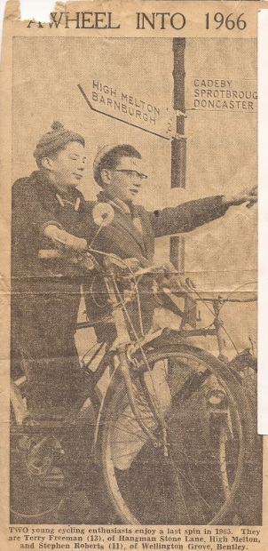 Newspaper clipping from The Yorkshire Post, 1965