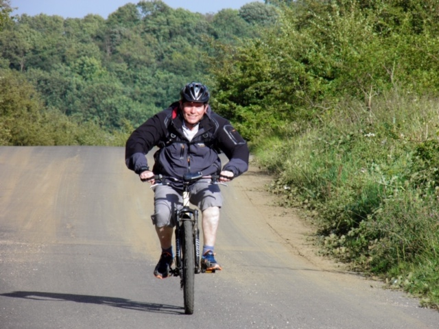 Stephen on the Transpennine Trail