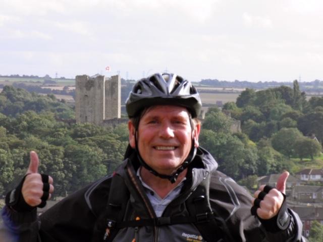 Stephen enjoying his new mountain bike in Conisbrough